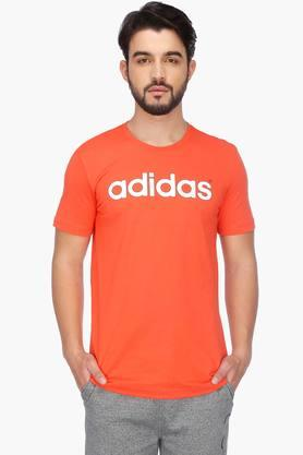 ADIDAS Mens Short Sleeves Round Neck Solid T-Shirt - 201564487
