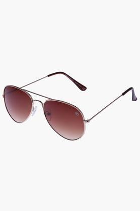 GIO COLLECTIONUnisex Aviator Polycarbonate Sunglasses VS2007C2BR