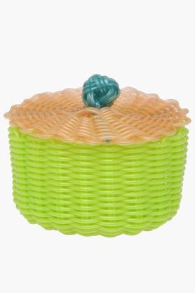 IVY Pvc Pop Round Basket With Lid - Small