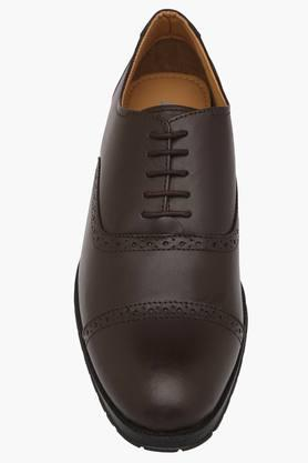Mens Leather Slip On Laceup Shoes