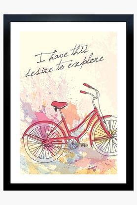 CRUDE AREA Multi Colour Desire To Explore Printed Paper Poster  ...