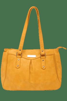 HAUTE CURRYWomens Inverted Pleat Satchel Handbag