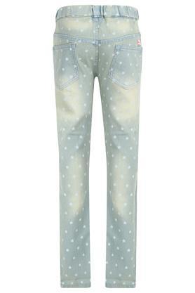 Girls 4 Pocket Printed Jeans