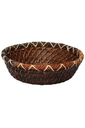 BACK TO EARTH Round Rattan Basket - Small