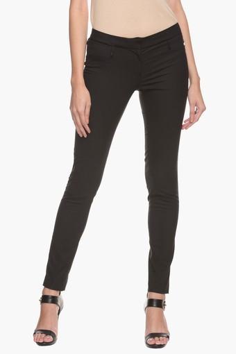 PARK AVENUE -  BlackTrousers & Pants - Main