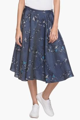 FRATINI WOMAN Women Printed Flared Knee Length Skirt