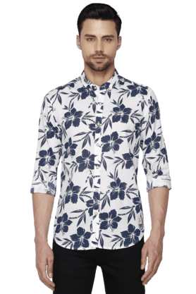 Bay Island Formal Shirts (Men's) - Mens Full Sleeves Slim Fit Casual Printed Shirt
