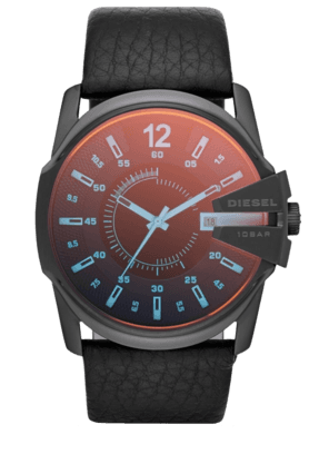 Mens Black Dial Watch Dz1657I