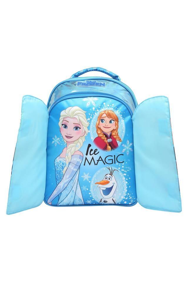 Girls Frozen Ice Magic Flap Zip Closure School Bag