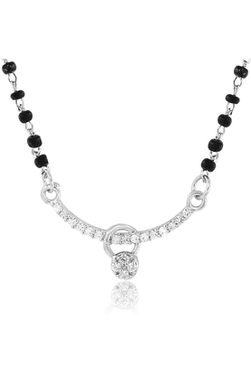 MAHIMahi Daily Wear Fashion Mangalsutra Set Of Brass Alloy With CZ For Women NL1101436G