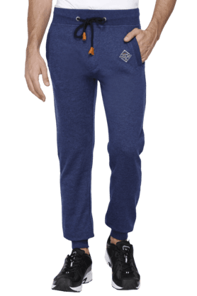 STATUS QUO Mens Comfort Fit Solid Track Pants