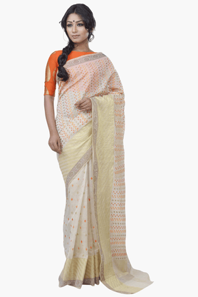 JASHN Womens Embroidered Saree With Blouse Piece - 201313072