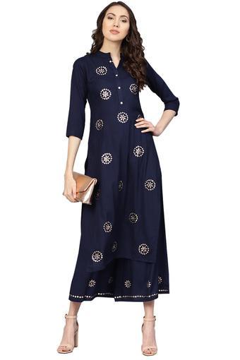 ISHIN -  NavySalwar & Churidar Suits - Main