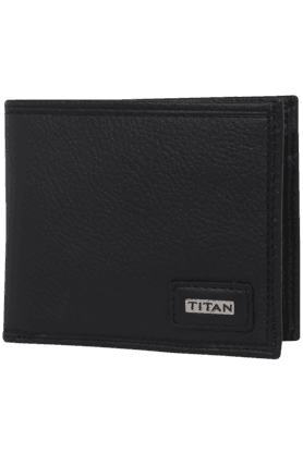 TITAN Mens Leather 1 Fold Wallet