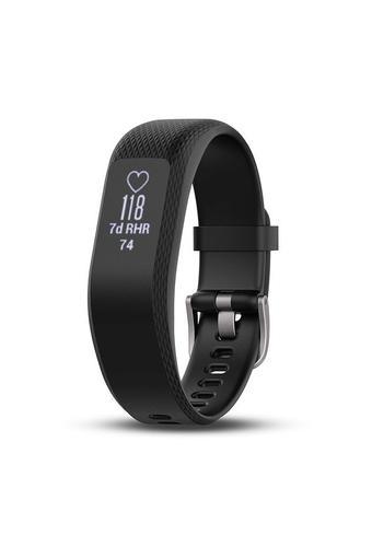 Unisex Vivosmart 3 Black Silicone Smart Watch