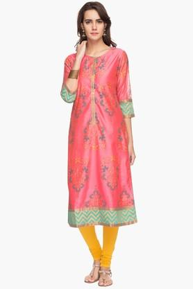 RS BY ROCKY STAR Womens Printed Round Neck Kurta