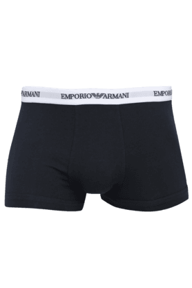ARMANI INNERWEAR Mens Cotton Solid Trunks Pack Of 2