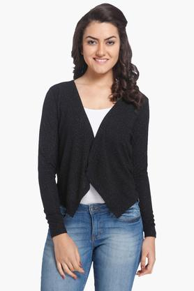 ONLY Womens Open Neck Printed Cardigan