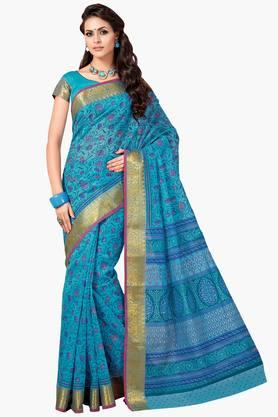 ASHIKA Womens Designer Cotton Printed Saree - 202338213