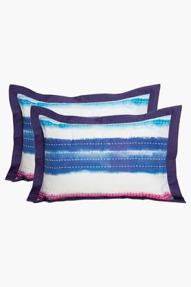 Cotton Stripe Pillow Cover Set Of 2