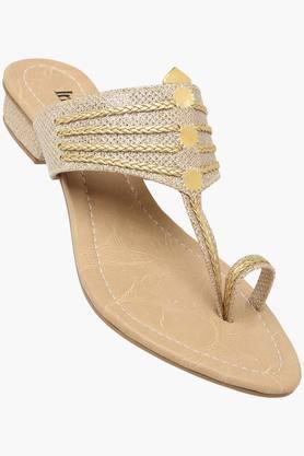 Womens Party Wear Slip On Flat Sandals