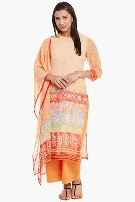 BIBA Womens Poly Cotton Straight Suit Set - 202179578