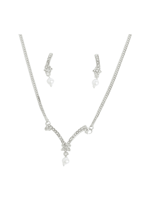 TOUCHSTONE Necklace Set -Mangalsutra Style - 8616304