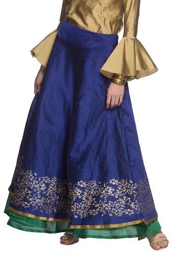 Womens Printed Reversible Long Skirt