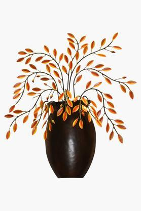 MALHAR Wrought Iron Flower Vase Decorative Wall Plaque