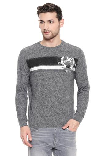 U.S. POLO ASSN. DENIM -  Grey Melange US POlo Buy 2 get 25% Off - Main