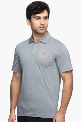 ADIDAS Mens Slub Polo T-Shirt  ...