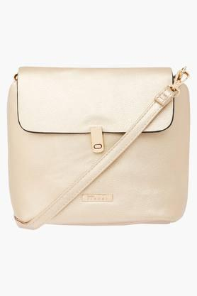 FEMINA FLAUNT Womens Metallic Lock Closure Slingbag