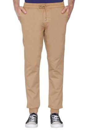 IZOD Mens Slim Fit 4 Pocket Solid Trousers
