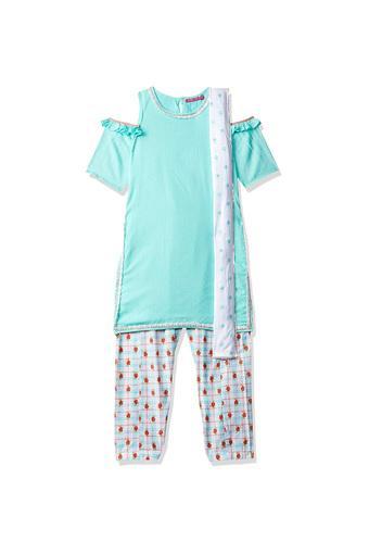 BIBA GIRLS -  TurquoiseIndianwear - Main
