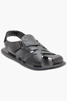 RED TAPE Mens Leather Velcro Closure Casual Sandals  ...