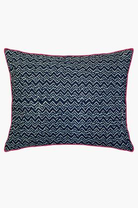 Cotton Printed Embroidered Cushion Cover