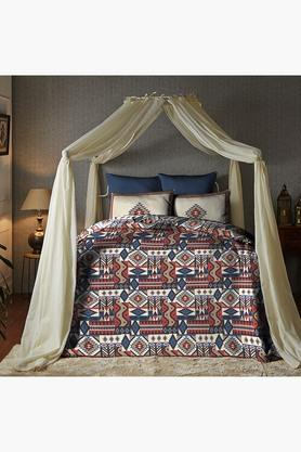 Cotton King XL Digital Printed Bedsheet With Pillow Cover - 202448890
