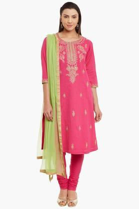 BIBA Womens Cotton Straight Suit Set - 202179649