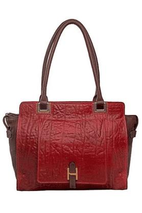 Womens Amore Leather Zipper Closure Shoulder Bag