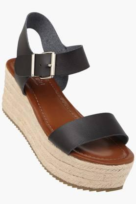 STEVE MADDEN Womens Casual Wear Buckle Closure Wedges  ... - 202204357