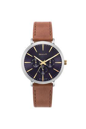 Mens Blue Dial Leather Multi-Function Watch - GTAD05600299I