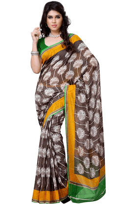 DEMARCA De Marca Multicolor Art Silk Designer DF-511A Saree