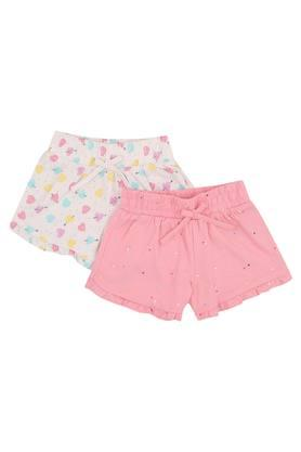 Girls Printed Shorts - Pack of 2