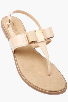 HAUTE CURRYWomens Casual Wear Buckle Closure Flat Sandals