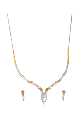 TUANElegant Diamond Necklace Set For Women (INK-769) (Use Code FB20 To Get 20% Off On Purchase Of Rs.1800)