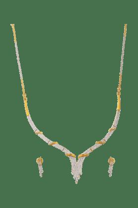 TUANElegant Diamond Necklace Set For Women -INK-769