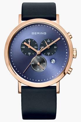 BERINGMens Classic Blue Round Chronograph Watch 10540-567