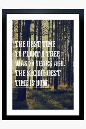 CRUDE AREA Multi Colour Plant A Tree Printed Paper Poster  ...