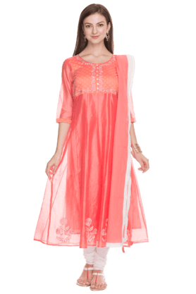 AURELIA Women Printed Anarkali Churidar Suit