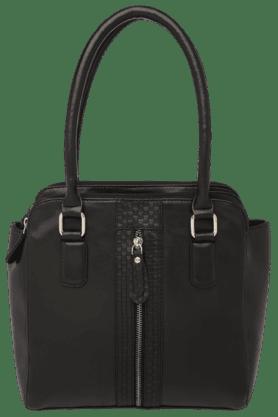ELLIZA DONATEINWomens Leather Zipper Closure Medium Satchel